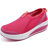 preiswerte -Damen Loafers & Slip-Ons Tüll Sommer Normal Walking Flacher Absatz Grau Rot Flach