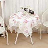 Neliö Kukka Patterned Table Cloths , Polyesteri materiaali Hotel ruokapöytä