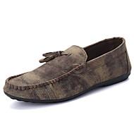 Masculino sapatos Courino Primavera Outono Conforto Mocassins e Slip-Ons Caminhada Para Casual Preto Cinzento Marron Azul