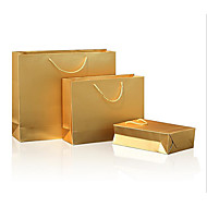 dom cartão branco de papel saco de exposição de roupas portátil saco de papel kraft (ouro, 32 * 11 * 25 centímetros, um pedaço)
