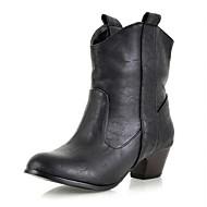 Damer Hæle Cowboy / Western Støvler Militærstøvler Syntetisk laklæder Kunstlæder Forår Efterår Vinter Bryllup Afslappet Formelt Fest/aften