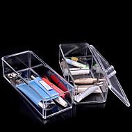 אקריליק במקרה אחסון קופסא פלסטיק איפור מארגן הקוסמטי אקריליק organizador rangement