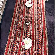 方形 プリント パターン柄 テーブルクロス , リネン/コットン混 材料 ホテルのダイニングテーブル ホームデコレーション 1