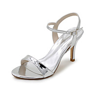 cheap Women's Sandals-Women's Shoes Patent Leather Spring / Summer Sandals Stiletto Heel Silver / Blue / Golden / Wedding / Party & Evening / Party & Evening