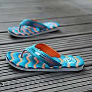 baratos Sapatos Masculinos-Unisexo Tecido Verão Conforto Chinelos e flip-flops Antiderrapante Laranja / Verde / Azul