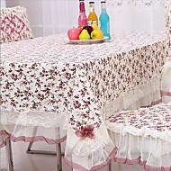 方形 フラワー テーブルクロス , コットン100% 材料 ホテルのダイニングテーブル