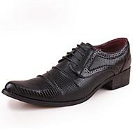 baratos Sapatos de Tamanho Pequeno-Homens Sapatos formais Couro Envernizado Primavera / Outono Oxfords Preto / Vermelho / Festas & Noite / Sapatos de vestir