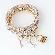billiga Brudsmycken-Dam Kedje & Länk Armband - Mode Armband Silver / Brun / Rosguld Till Bröllop