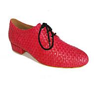 baratos Sapatilhas de Dança-Homens Sapatos de Dança Moderna / Sapatos de Swing Courino Salto Cadarço Salto Baixo Não Personalizável Sapatos de Dança Vermelho / Azul