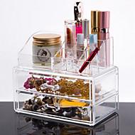 voordelige -Make-up opbergsysteem Make-updoos / Make-up opbergsysteem Kunststof / Acryl Effen 18.5*10*15.5 cm Oranjegeel