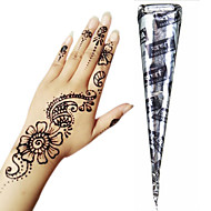 cheap Temporary Paints-Black Herbal Henna Cones Temporary Tattoo Kit Body Art Mehandi Ink Hina Temporary Tattoos Henna Tattoos Designs Instant Tattoo Paste Adhesive Stencils