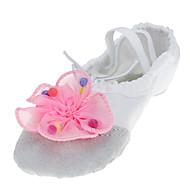 billige Ballettsko-Ballettsko Tekstil Flate Imitasjonsperle Flat hæl Kan ikke spesialtilpasses Dansesko Fuksia / Blå / Rosa / Innendørs