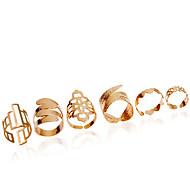 Ringen Modieus Bruiloft / Feest Sieraden Legering Dames Midiringen 1 Set,Verstelbaar Gouden