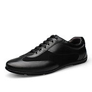 Herre sko Lær Vår Høst Komfort Oxfords Gange Snøring Til Avslappet Svart Brun