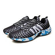 baratos Sapatos Masculinos-Homens Couro Ecológico Primavera / Outono Conforto Tênis Corrida Antiderrapante Cinzento / Vermelho / Verde