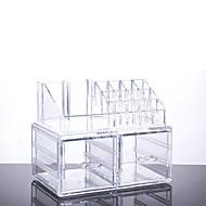 2016 nova caixa de titular storageinsert portátil acrílico transparente gaveta organizador de cosméticos caixa de maquiagem