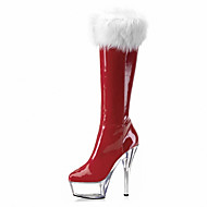 cheap Extended-Size Shoes-Women's Shoes Patent Leather Customized Materials Winter Fall Fashion Boots Club Shoes Light Up Shoes Boots Stiletto Heel Platform