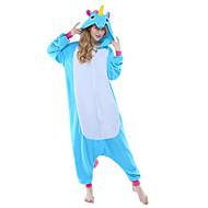 Erwachsene Kigurumi-Pyjamas Unicorn Fliegendes Pferd Tier Pyjamas-Einteiler Polar-Fleece Blau / Gelb + blau / Weiss + grau Cosplay Für Herren und Damen Tiernachtwäsche Karikatur Fest / Feiertage