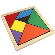 Tangram Puslespil Træpuslespil Pædagogisk legetøj Farverig Træ Jul Fødselsdag Barnets Dag Klassisk & Tidløs 8 til 13 år 14 år og op efter
