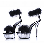 cheap -Women's Patent Leather / Customized Materials Summer / Fall Basic Pump / Club Shoes Heels Stiletto Heel / Platform / Crystal Heel Feather Black / Pink / Wedding / Party & Evening / Party & Evening