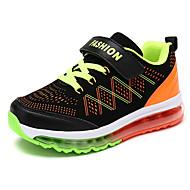 baratos Sapatos de Menino-Para Meninos Sapatos Couro Ecológico Primavera / Outono Conforto Tênis Caminhada Cadarço para Preto / Azul Real