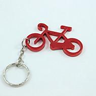 Bicycle Style Keyring & Bottle Opener,Aluminium Alloy 10×4×0.2 CM(4.0×1.6×0.1 INCH) Random Color