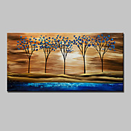 Hand Painted Abstract Tree Landscape Oil Painting On Canvas Wall Art With Stretched Frame Ready To Hang