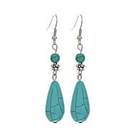 Mode oorbellen sieraden vintage tibetan zilveren turquoise waterdruppel dangle oorbellen sieraden voor vrouwen