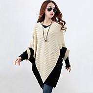 Žene Rukav-krilo Dugih rukava Duga Pullover Color block V izrez