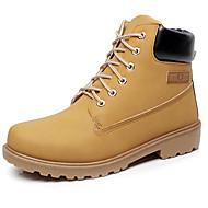 baratos Sapatos Femininos-Unisexo Sapatos Sintético Outono / Inverno Botas Cowboy / Country / Botas da Moda / Botas de Moto Botas Café / Verde / Castanho Claro