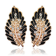 cheap Jewelry-Women's Leaf 1 Drop Earrings - Fashion Black / Green / Pink Earrings For Wedding / Party