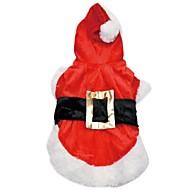 Hund Kostume Hættetrøjer Hundetøj Cosplay Jul Solid Rød Kostume For kæledyr