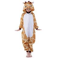 Kigurumi Pijama Zürafa Tulum Pijamalar Kostüm Fanila Tüylü Kumaş Turuncu Cosplay İçin Çocuk Hayvan Sleepwear Karikatür cadılar bayramı