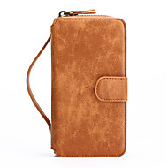 cheap -iPhone 7 Plus 2in1 Genuine Leather Zipper Wallet Card Slot Back Shell Case for iPhone 6s 6 Plus SE 5s 5
