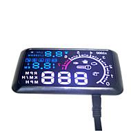 auto hud head up 5,5 LCD-näyttö OBD II auton muotoilu autosarjan polttoaine ylinopeuden km / h