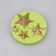 yıldız şekil silikon kek kalıp dekorasyon çikolata fondan kek araçları ramdon renk