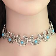 Dame Turkis Perler Kort halskæde - Turkis Personaliseret, Vintage, Bohemisk Halskæder Til Bryllup, Fest, Daglig