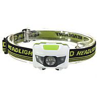 Luzes de Bicicleta LED - Ciclismo Mini Impermeável Tamanho Pequeno Visão Nocturna Fácil de Transportar AAA 1200 Lumens Bateria Vermelho