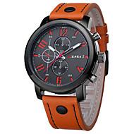 cheap Dress Watches-Men's Quartz Wrist Watch / Casual Watch Leather Band Charm Fashion Black Brown