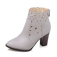 cheap Women's Shoes-Women's Shoes Synthetic Patent Leather Leatherette Winter Fall Cowboy / Western Boots Combat Boots Heels Walking Shoes Chunky Heel Plaid
