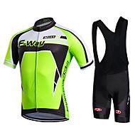 Fastcute Muškarci Žene Kratkih rukava Biciklistička majica s kratkim tregericama - Crn Bicikl Bib Shorts Bib Hulahopke Biciklistička