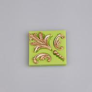 4 hulrom europa silikon mold barokk fondant og tannkjøtt lime mold kake dekorasjon farge tilfeldig