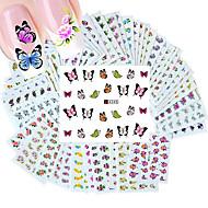 50 pcs Etiqueta engomada de la transferencia arte de uñas Manicura pedicura Moda Diario