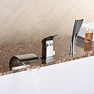 modern tub waterfall handshower included with ceramic valve 1handle 3holes for