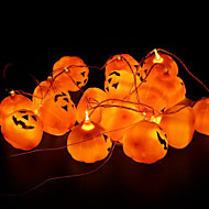 16pcs / set abóbora de Halloween adereços decoração decoração da lâmpada de abóbora festa de Halloween uma abóbora corda leve louco