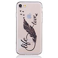 用途 iPhone X iPhone 8 iPhone 7 iPhone 7 Plus iPhone 6 ケース カバー クリア エンボス加工 パターン バックカバー ケース 羽毛 ソフト TPU のために Apple iPhone X iPhone 8 Plus