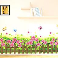 Blomster Trær / Blader Art Deco Tapet til Hjemmet Moderne Tapetsering , PVC/Vinyl Materiale selvklebende nødvendig Veggmaleri , Tapet