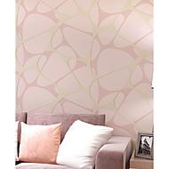 billige Tapet-Damaskvev Blomstret Art Deco 3D Stribe Tapet til Hjemmet Moderne Tapetsering , U-vevet stoff Materiale selvklebende nødvendig bakgrunns ,