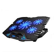 justerbar LED-skærmen smart styring laptop afkøling pad med 5 fans