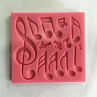 Musical Notes Fondant Silicone Mold  SM-454 Cake Mold,Baking Tool